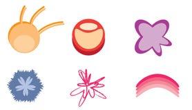abstrakcjonistyczni ilustracyjni logowie ustawiający wektor Obraz Royalty Free