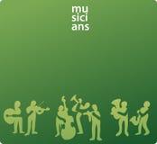 abstrakcjonistyczni ilustracyjni muzycy Obrazy Royalty Free
