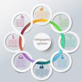 Abstrakcjonistyczni infographic okręgi Fotografia Stock