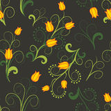 Abstrakcjonistyczni kolorów żółtych kwiaty Zdjęcie Stock