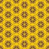 Abstrakcjonistyczni kolorów żółtych kwiaty, bezszwowy wzór Obrazy Stock