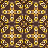 Abstrakcjonistyczni kolorów żółtych kwiaty, bezszwowy wzór Fotografia Royalty Free
