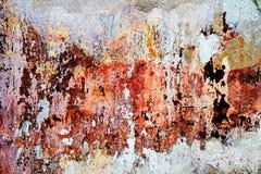 abstrakcjonistyczni kolorach tła Rocznik ściana Obraz Royalty Free