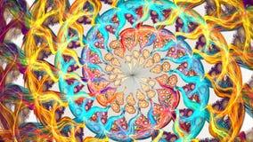 Abstrakcjonistyczni kolorowi kształty wiruje jak carousel Wysokość Wyszczególniająca zdjęcie wideo