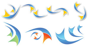 abstrakcjonistyczni kolorowi kształty Zdjęcia Stock