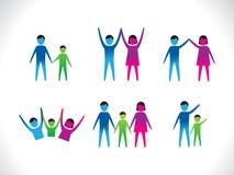 Abstrakcjonistyczni kolorowi ludzie ikon Obraz Royalty Free