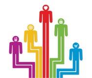 Abstrakcjonistyczni kolorowi ludzie symboli/lów ilustracji