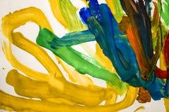 Abstrakcjonistyczni kolorowi muśnięć uderzenia Obraz Stock