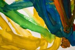 Abstrakcjonistyczni kolorowi muśnięć uderzenia Fotografia Stock