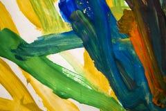 Abstrakcjonistyczni kolorowi muśnięć uderzenia Zdjęcie Royalty Free