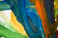 Abstrakcjonistyczni kolorowi muśnięć uderzenia Obrazy Stock