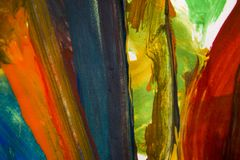 Abstrakcjonistyczni kolorowi muśnięć uderzenia Obraz Royalty Free