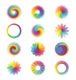 abstrakcjonistyczni kolorowi projekty Obraz Stock