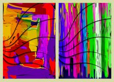 Abstrakcjonistyczni kolorowi składy ilustracja wektor