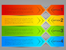 Abstrakcjonistyczni kolorowi sztandary, etykietki, etykietki Fotografia Stock