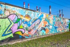 Abstrakcjonistyczni kolorowi tekstów graffiti wzory Obrazy Stock