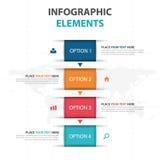 Abstrakcjonistyczni kolorowi teksta pudełka Infographics biznesowi elementy, prezentacja szablonu płaskiego projekta wektorowa il ilustracja wektor