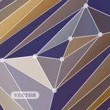 Abstrakcjonistyczni kolorowi trójboki Fotografia Stock