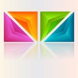 Abstrakcjonistyczni kolorowi znaki Obraz Stock