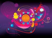 abstrakcjonistyczni koloru zabawy kształty ilustracja wektor