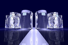 abstrakcjonistyczni komputery. Obrazy Royalty Free