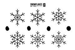Abstrakcjonistyczni konturów płatki śniegu Zdjęcia Stock