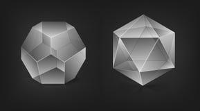 abstrakcjonistyczni kształty Obrazy Royalty Free