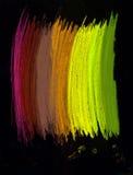 Abstrakcjonistyczni Kształty i elementy na czarny tło Obraz Royalty Free