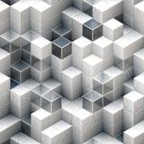 Abstrakcjonistyczni kubiczni tła Obraz Royalty Free