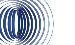 Abstrakcjonistyczni kurenda pierścionki ilustracja wektor