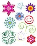 abstrakcjonistyczni kwiaty Zdjęcia Royalty Free