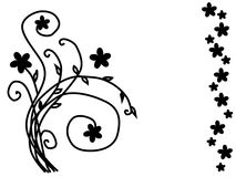 abstrakcjonistyczni kwiaty Fotografia Royalty Free