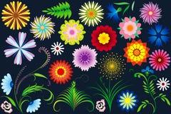 abstrakcjonistyczni kwiaty Obrazy Stock