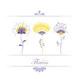 abstrakcjonistyczni kwiaty Obraz Royalty Free