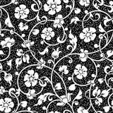 abstrakcjonistyczni kwiaty deseniują bezszwowego Obraz Royalty Free