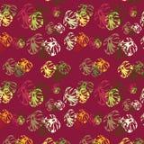 abstrakcjonistyczni kwiaty deseniują bezszwowego Obraz Stock