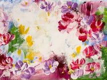 Abstrakcjonistyczni kwiaty, sztuki tło, tekstura obraz Zdjęcia Royalty Free