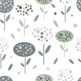 Abstrakcjonistyczni kwiaty w graficznym mieszkanie stylu ilustracja wektor
