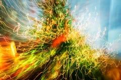 Abstrakcjonistyczni ślada lekcy zamazani ruchy i kontrastów kolory Obraz Stock
