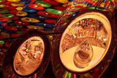 Abstrakcjonistyczni Lampiony i Światła Zdjęcie Stock