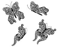 Abstrakcjonistyczni latający motyle ilustracja wektor