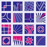 Abstrakcjonistyczni logów projekty Ustawiający Obrazy Royalty Free