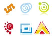 abstrakcjonistyczni logowie Fotografia Stock