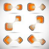 abstrakcjonistyczni logowie Zdjęcie Stock