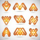 abstrakcjonistyczni logowie Obraz Stock