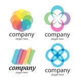 Abstrakcjonistyczni rozwiązanie logowie Fotografia Stock