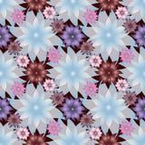 Abstrakcjonistyczni Lotosowi kwiaty Raster bezszwowy tło Obrazy Stock