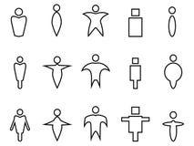 Abstrakcjonistyczni ludzie liniowych ikon ilustracji