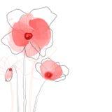 Abstrakcjonistyczni maczków kwiaty ilustracji