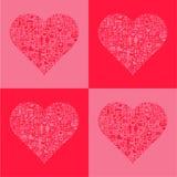 Abstrakcjonistyczni miłość serca Fotografia Royalty Free